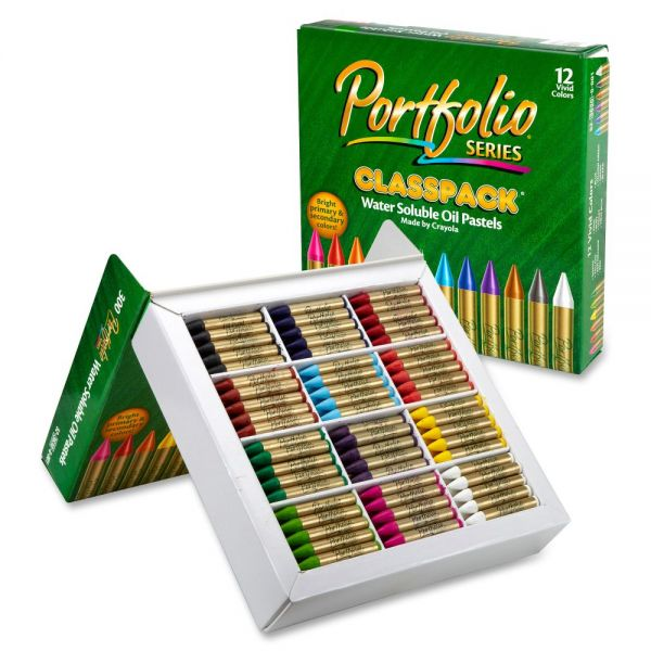 Crayola Portfolio Water Soluble Oil Pastels Classpack
