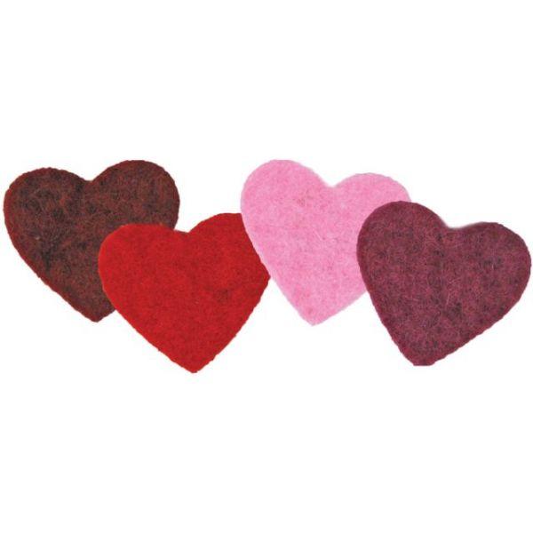 Feltworks Multicolor Hearts