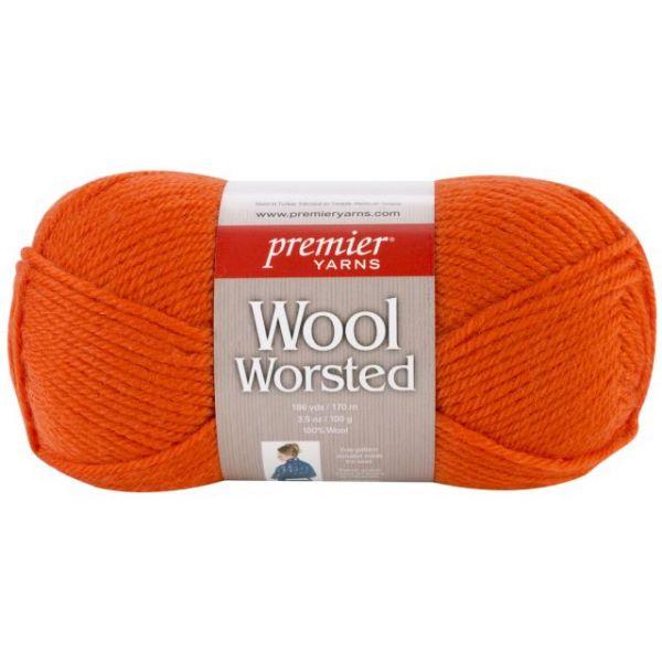 Premier Wool Worsted Yarn - Tangerine