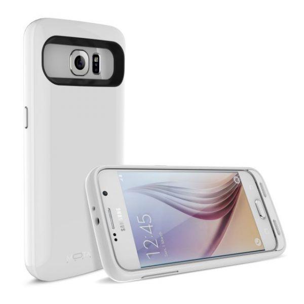 MOTA Samsung S6 Extended Battery Case - White, 3500 mAh