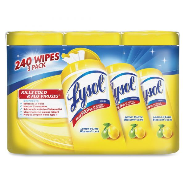 Lysol Disinfecting Wipes 3 Pack