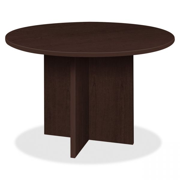 Lorell Prominence 79000 Series Espresso Round Conference Table