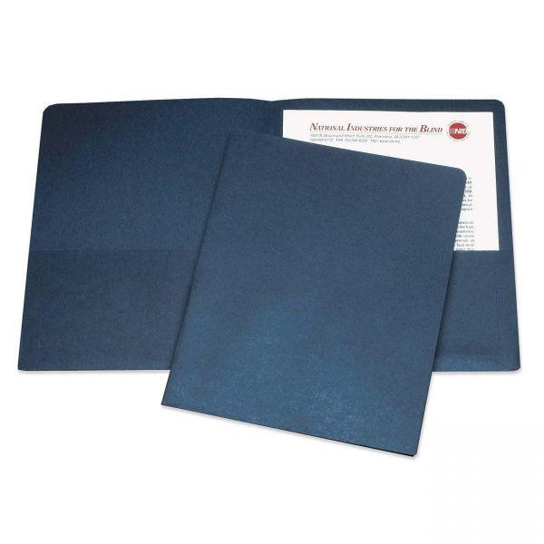 Skilcraft Dark Blue Two Pocket Folders