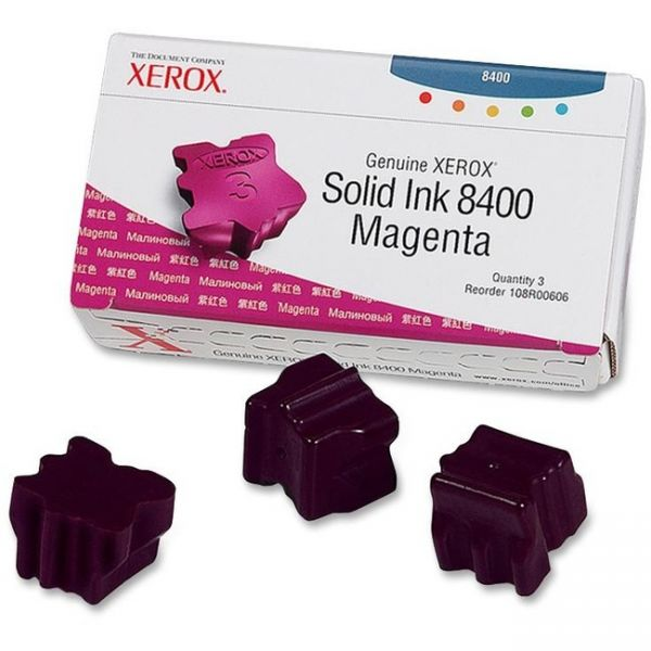 Xerox 108R00606 Solid Ink Stick, 1,133 Page-Yield, 3/Box, Magenta