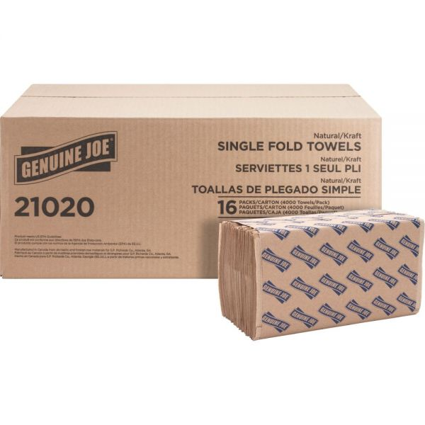 Genuine Joe Singlefold Paper Towels
