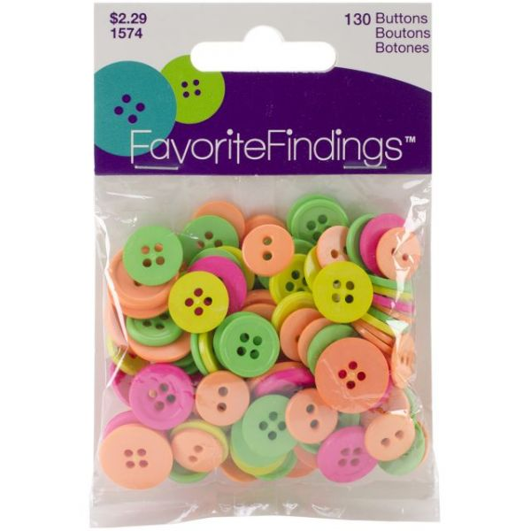 Favorite Findings Buttons 130/Pkg