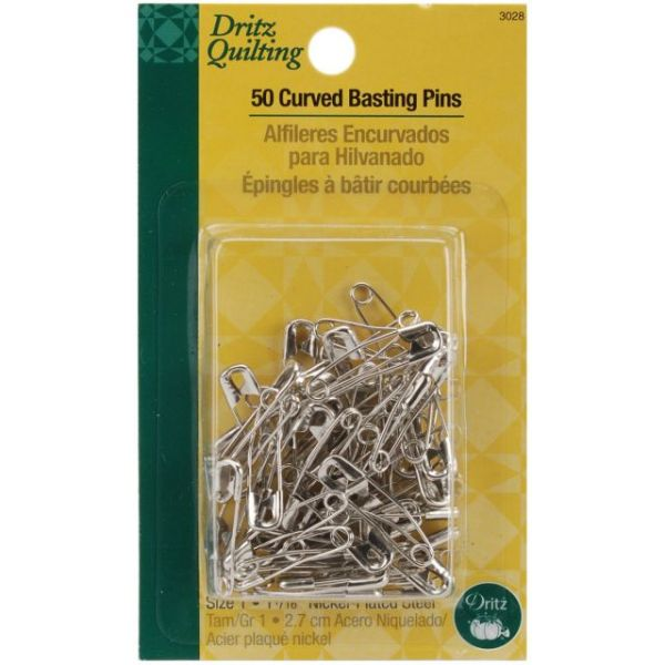 Dritz Quilting Steel Curved Basting Pins