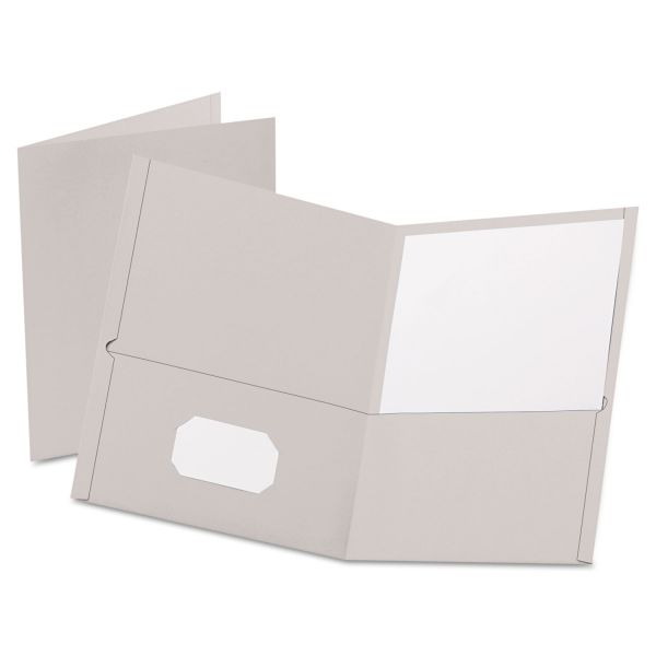 Esselte Gray Two Pocket Folders