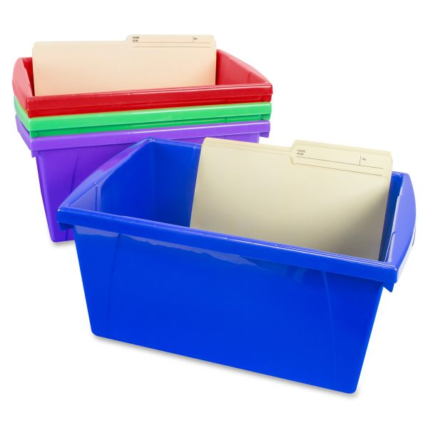 Storex 4 Piece Medium Storage Bin