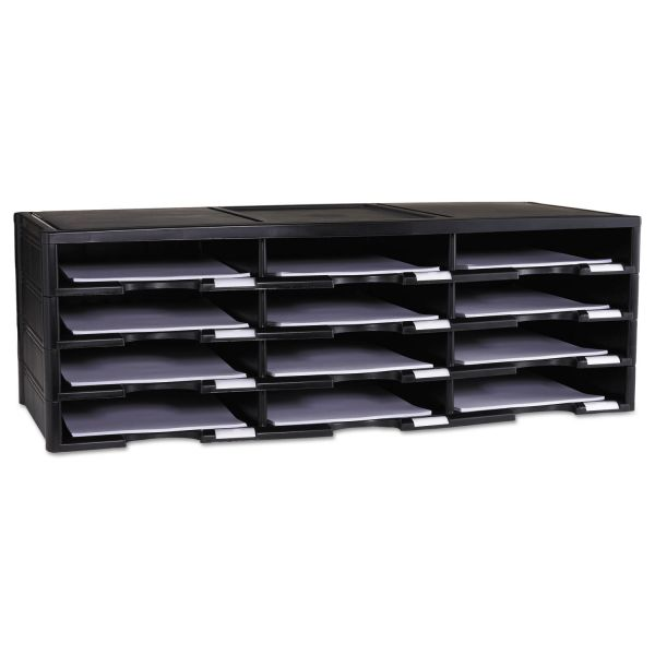 Storex Storex Literature Organizer, 12 Section, 10 5/8 x 13 3/10 x 31 2/5, Black
