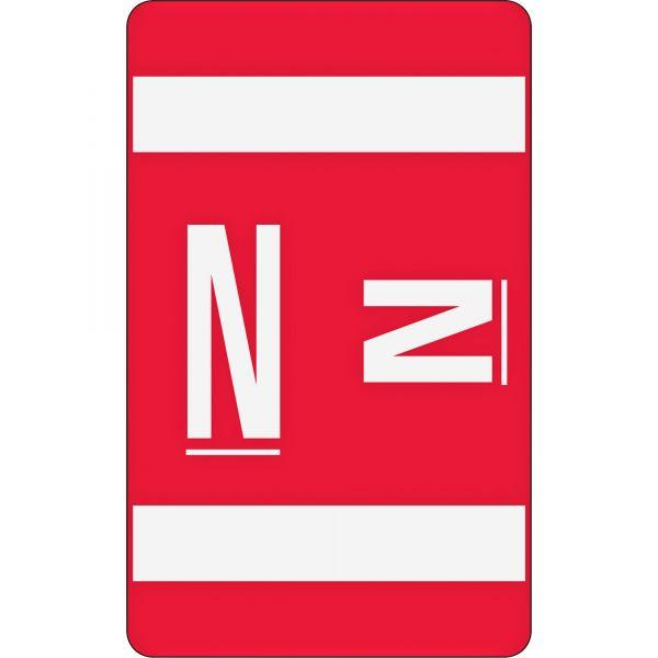 Smead AlphaZ ACCS Color-Coded Alphabetic Label - N