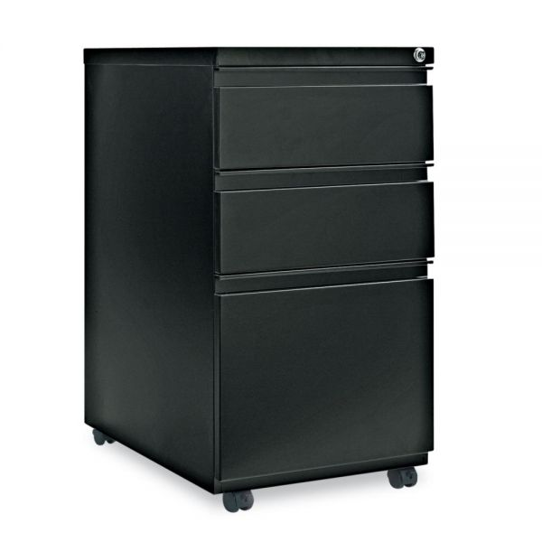 Alera Three-Drawer Mobile Pedestal File With Full-Length Pull