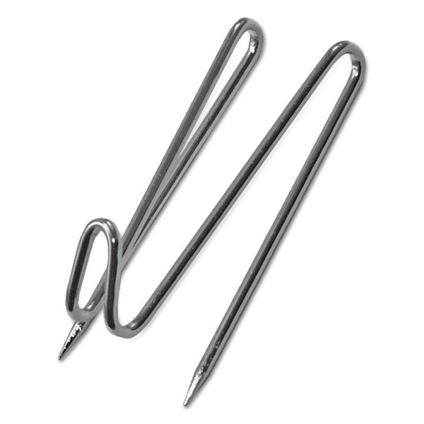 Advantus Panel Wall Wire Hooks, Silver, 25 Hooks per Pack