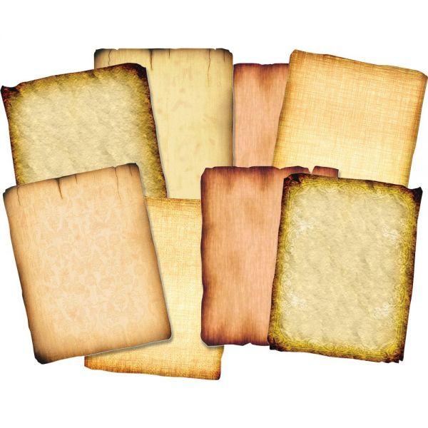 Roylco Antique Design Parchment-style Papers