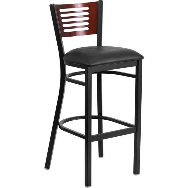 Flash Furniture HERCULES Series Decorative Slat Back Barstool