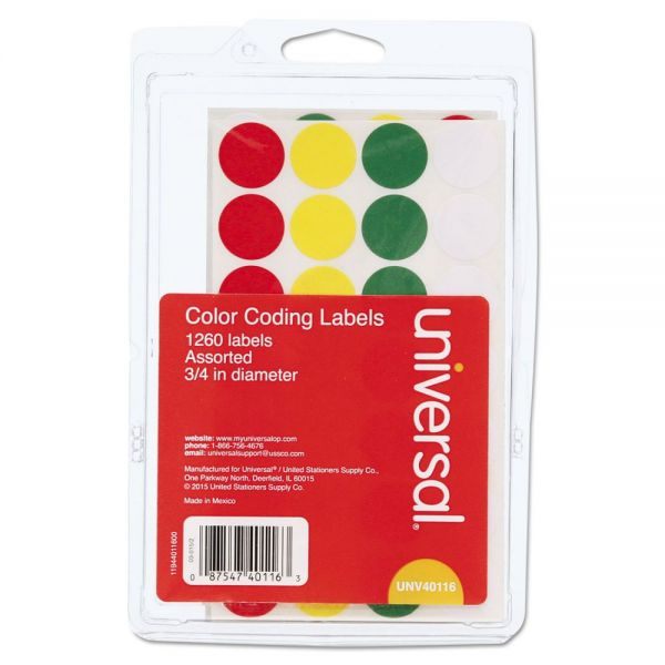 Universal Permanent Self-Adhesive Color-Coding Labels