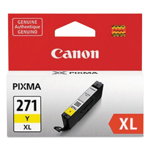 Canon CLI-271XL High-Yield Yellow Ink Cartridge (0339C001)