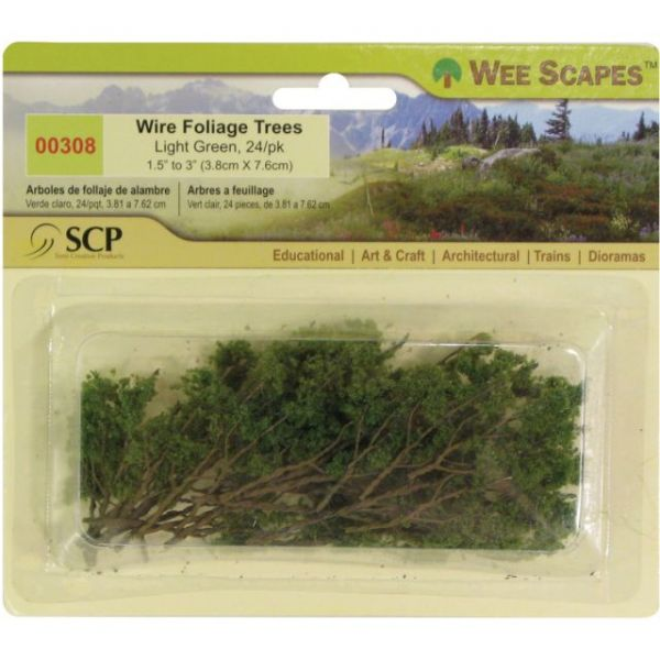 "Wire Foliage Trees 1.5"" To 3"" 24/Pkg"