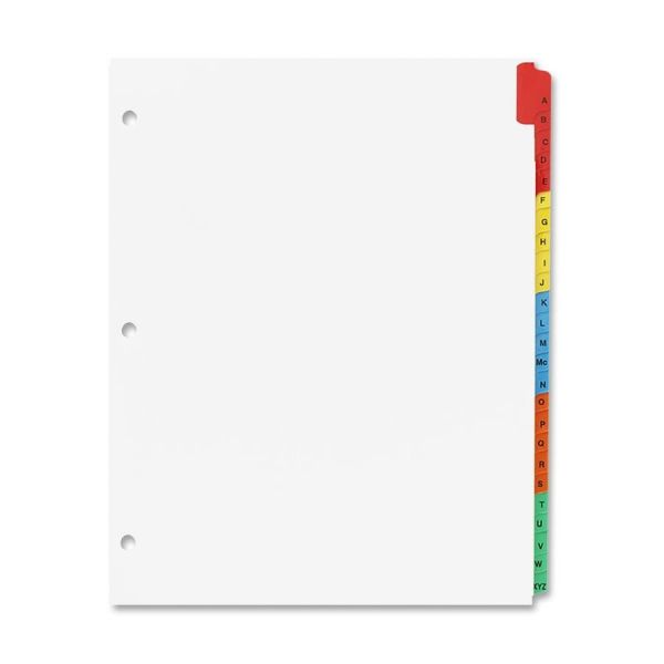 Sparco Quick Index 25-Tab Alphabet Dividers With Table Of Contents Page