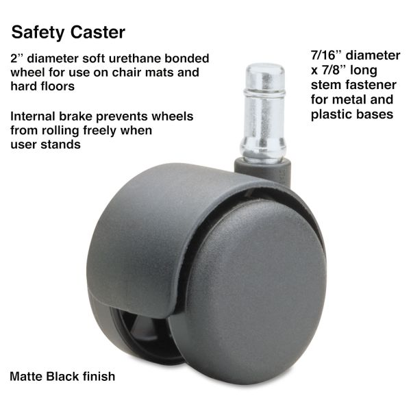 Master Mfg. Co Safety Series Chair Mat Casters, Standard Neck