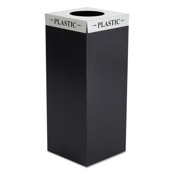 Safco Square-Fecta Lid, Plastic, Silver