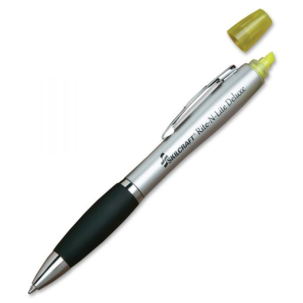 SKILCRAFT Rite-N-Lite Deluxe Highlighter Pen