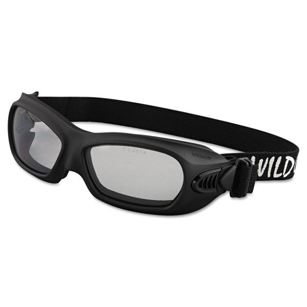 Jackson Safety* V80 WildCat Safety Goggles, Black Frame, Clear Lens
