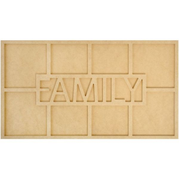 Beyond The Page MDF Family Word Frame W/8 Openings