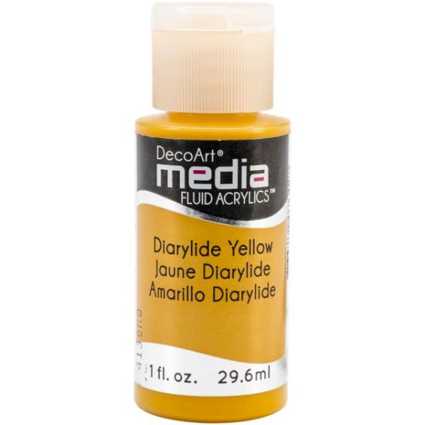 Deco Art Dairylide Yellow Media Fluid Acrylic