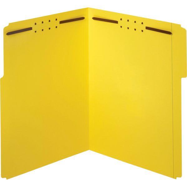 Globe-Weis Top-Tab File Folders With Fasteners