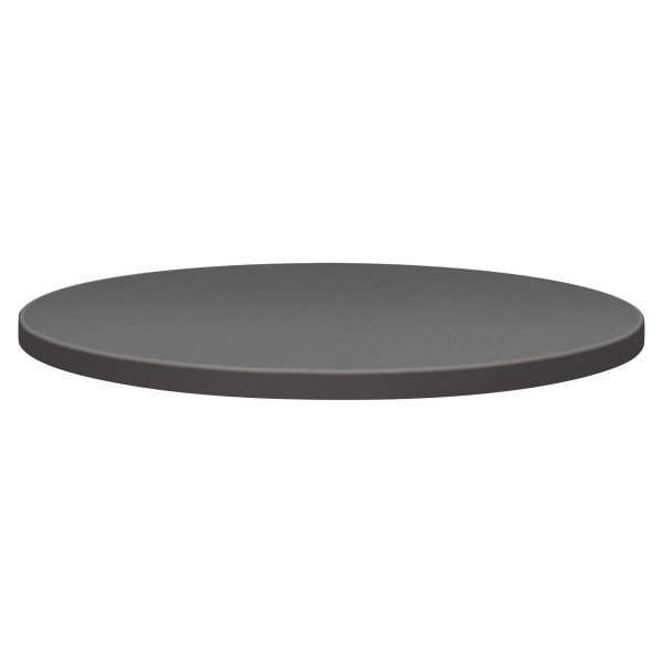 "HON Self-Edge Round Hospitality Table Top, 30"" Dia., Steel Mesh/Charcoal"