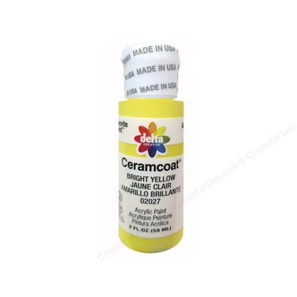 Ceramcoat Bright Yellow Acrylic Paint