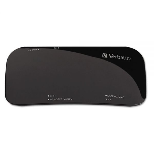 Verbatim Universal Card Reader, USB 2.0, Black, Windows/Mac