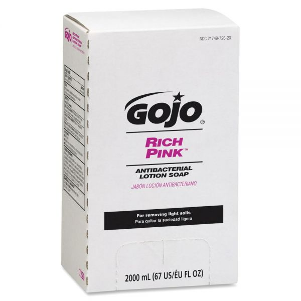 Gojo RICH PINK Antibacterial Lotion Hand Soap Refill