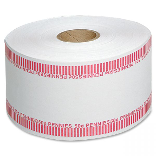 MMF Industries Automatic Coin Flat Wrapper Rolls, Pennies, $.50, 1,900 Wrappers per Roll