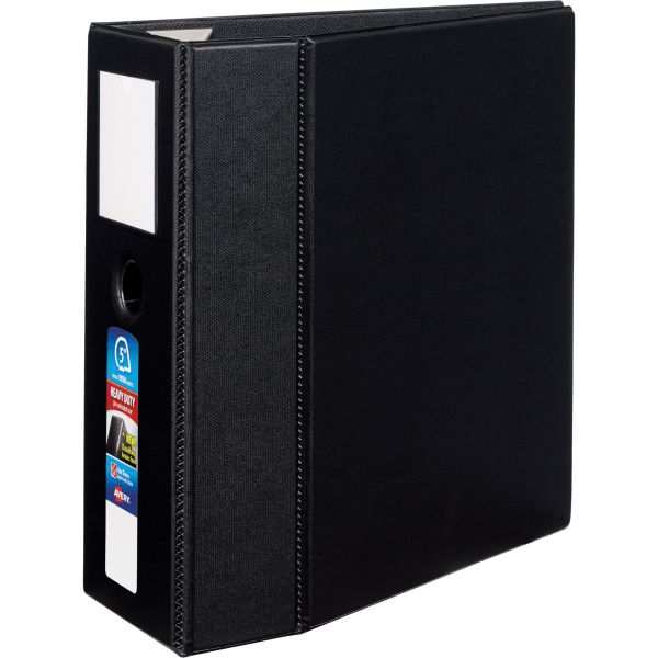 "Avery Heavy-Duty 3-Ring Binder with One Touch EZD Rings, 5"" Capacity, Black"