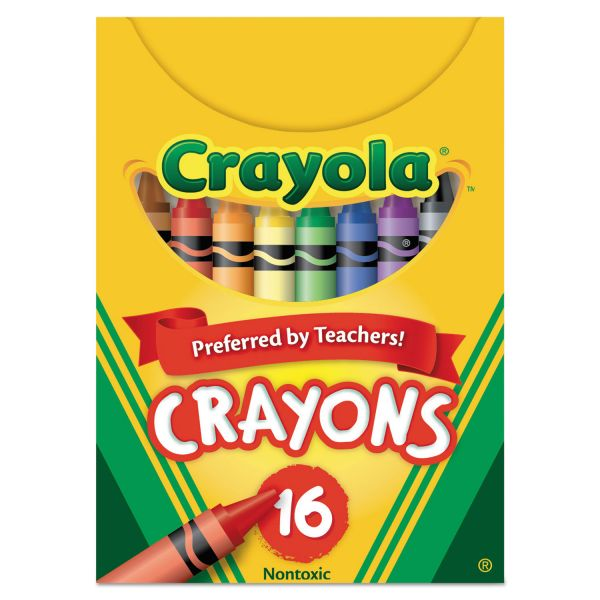 Crayola Classic Color Crayons, Tuck Box, 16 Colors