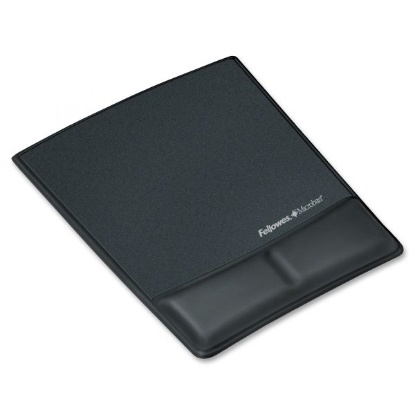Fellowes Mouse Pad With Memory Foam Wrist Rest
