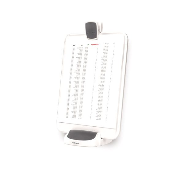 Fellowes I-Spire Series Document Lift, ABS Plastic, 100 Sheet Capacity, White/Gray