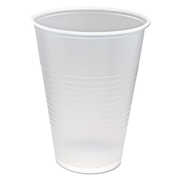 Fabri-Kal RK Ribbed Cold Drink Cups, 10oz, Clear, 100/Sleeve, 25 Sleeves/Carton