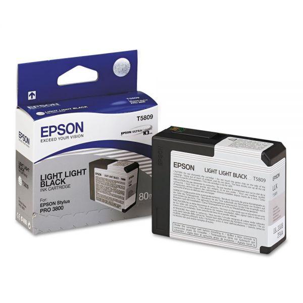 Epson T5809 Light Light Black Ink Cartridge