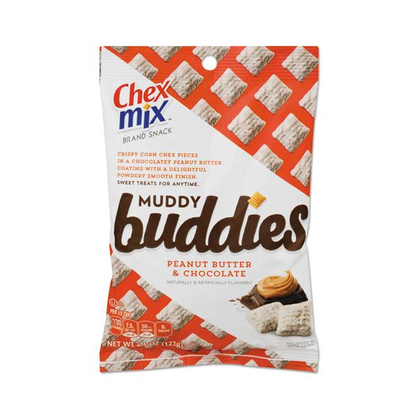 Chex Mix Chex Mix Muddy Buddies, 4.5oz Bag, 7 Bags/Pack