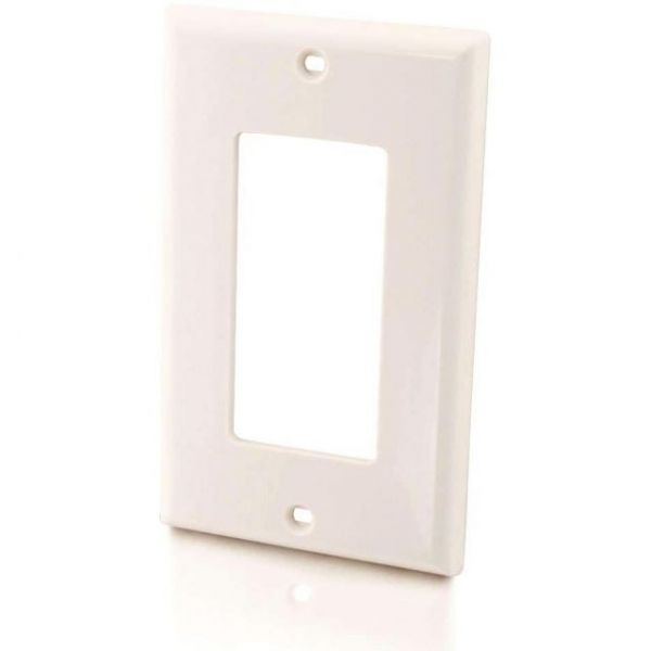 C2G Decora Style Single Gang Wall Plate - White
