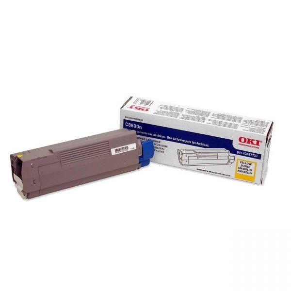 Oki 43487733 Yellow Toner Cartridge