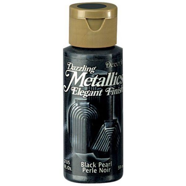 Deco Art Dazzling Metallics Black Pearl Acrylic Paint