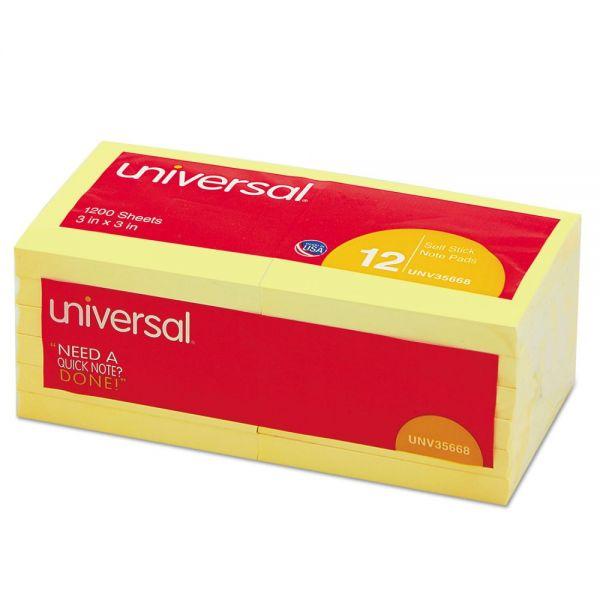 """Universal 3"""" x 3"""" Adhesive Note Pads"""