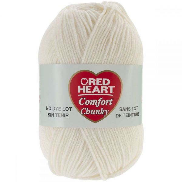 Red Heart Comfort Chunky Yarn - Cream