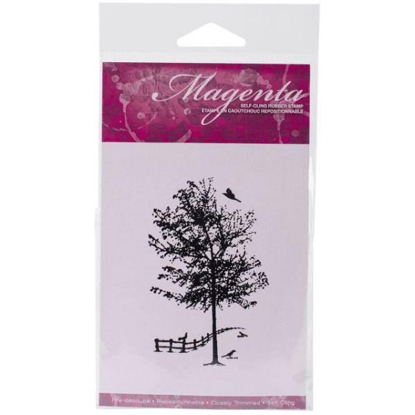 """Magenta Cling Stamps 3.5""""X2"""""""