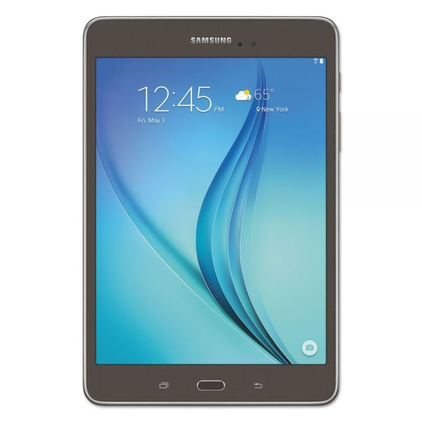 "Samsung Galaxy Tab A 8.0"" Tablet, 16 GB, Wi-Fi, Smoky Titanium"