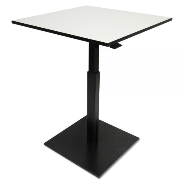 Alera Hospitality Series Height Adjustable Table, 31.5 x 31.5 x 29.5 - 42.5,Gray/Black